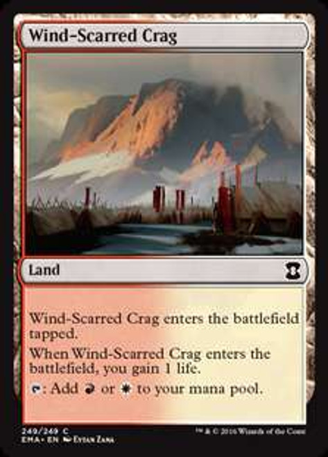 MtG Eternal Masters Common Wind-Scarred Crag #249