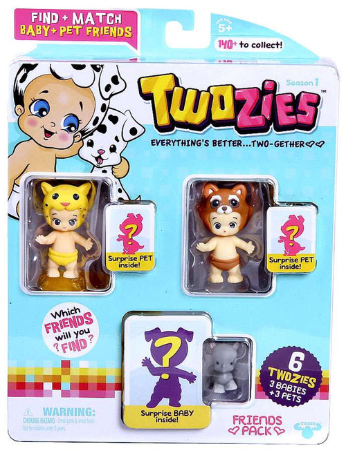 Twozies Series 1 Friends Pack Mini Figure 6-Pack