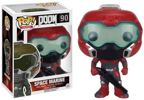 Funko POP! Games Doom Marine Exclusive Vinyl Figure #90 [Red, Damaged Package]