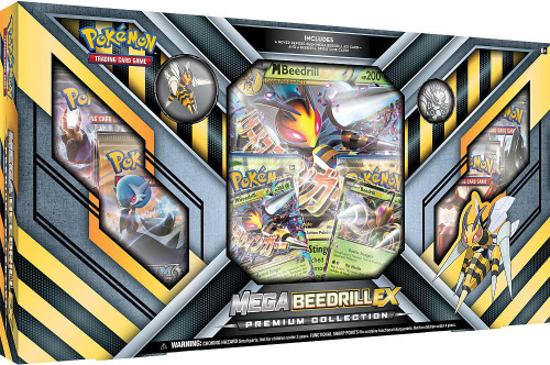 Pokemon Trading Card Game XY Mega Beedrill-EX Premium Collection [6 Booster Packs, 2 Promo Cards, Oversize Card & Coin!]