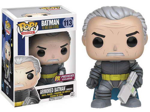Funko DC The Dark Knight Returns POP! Heroes Armored Batman Exclusive Vinyl Figure #113 [Unmasked]