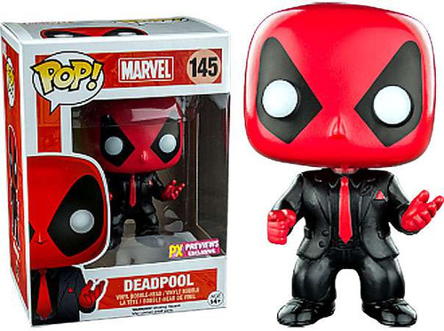 Funko Marvel Universe POP! Marvel Deadpool Exclusive Vinyl Bobble Head #145 [Dressed to Kill]