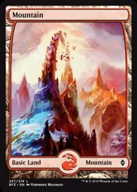 MtG Battle for Zendikar Land Mountain #267 [Full Art Foil]