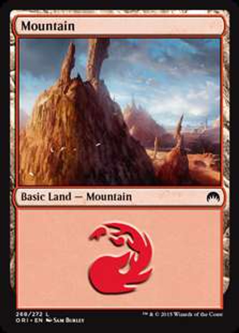 MtG Origins Land Foil Mountain #265