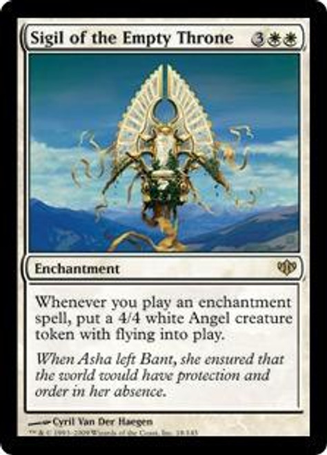 MtG Conflux Rare Foil Sigil of the Empty Throne #18