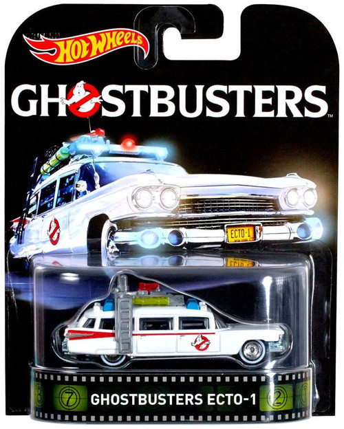Hot Wheels Ghostbusters HW Retro Entertainment Ecto-1 Diecast Car [2016]