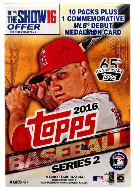 MLB Topps 2016 Series 2 Baseball Trading Card BLASTER Box [10 Packs + 1 Medallion Card!]