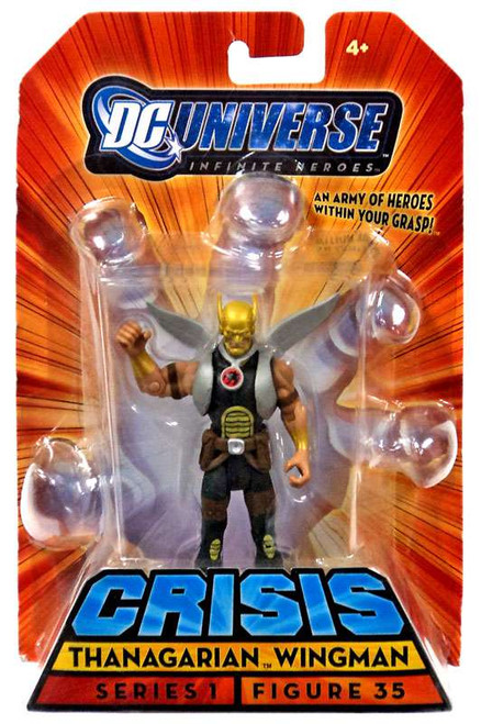 DC Universe Crisis Infinite Heroes Series 1 Thanagarian Wingman Action Figure #35 [Grey Variant]