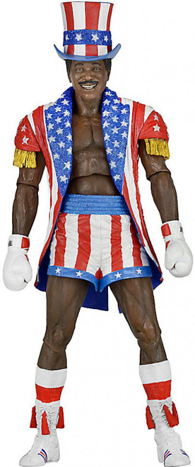 NECA Rocky IV Rocky 40th Anniversary Series 2 Apollo Creed Action Figure [Uncle Sam Hat & Coat]