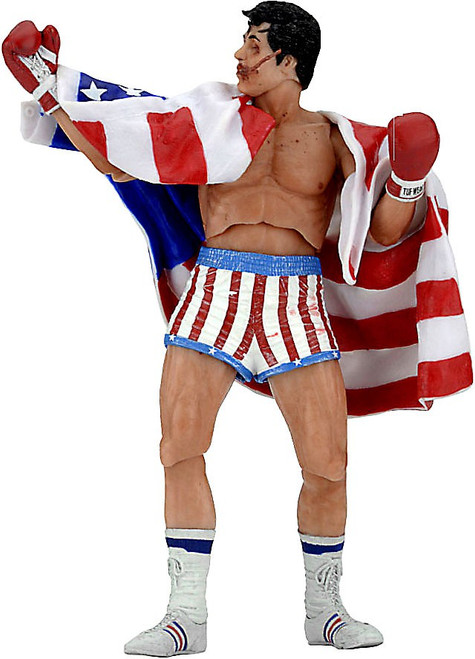 NECA Rocky IV Rocky 40th Anniversary Series 2 Rocky Action Figure [American Flag Trunks]