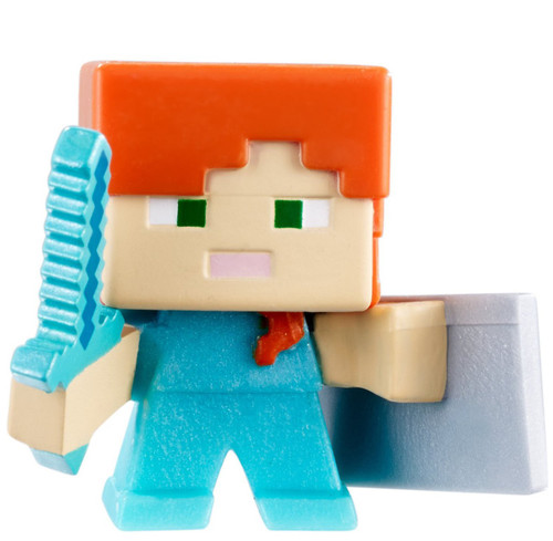 Minecraft End Stone Series 6 Alex with Shield 1-Inch Mini Figure [Loose]