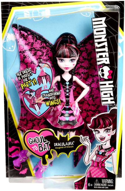 Monster High Ghoul to Bat Draculaura 10.5-Inch Doll