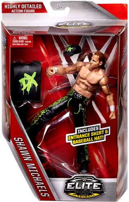 WWE Wrestling Elite Collection Flashback Shawn Michaels Exclusive Action Figure [DX Entrance Shirt & Baseball Hat]