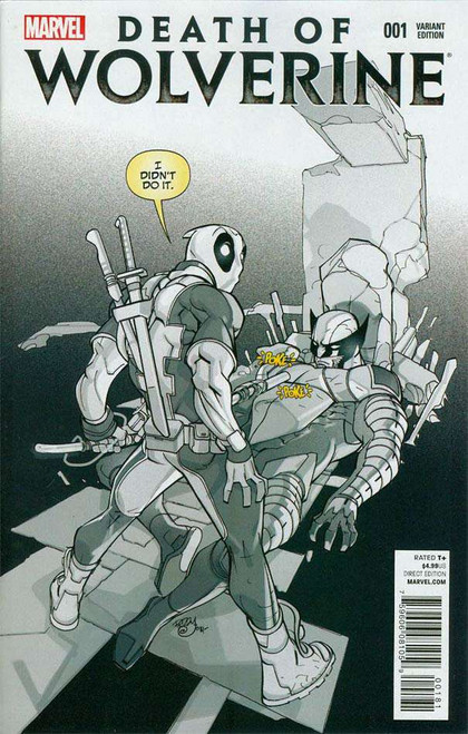 Death of Wolverine #1 Deadpool Variant Sketch Cover K Incentive Comic Book