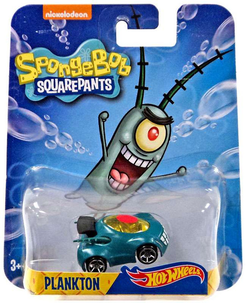 Hot Wheels Spongebob Squarepants Plankton Diecast Character Car [2016]