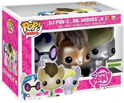 Funko POP! My Little Pony DJ PON-3, Dr. Hooves & Derpy Hooves Exclusive Vinyl Figure 3-Pack [Damaged Package]
