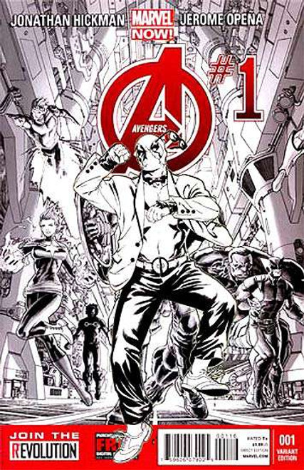 Avengers Vol 5 #1 Variant Sketch Incentive Cover Comic Book [Deadpool Gagnam Style]