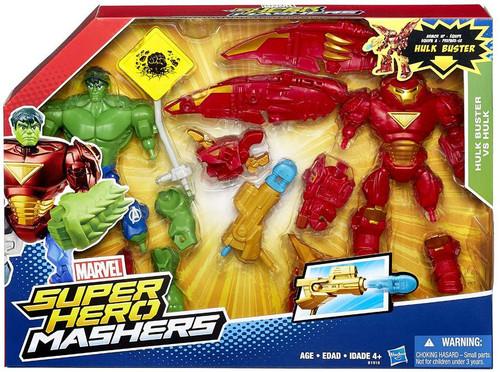 Marvel Super Hero Mashers Battle Mash Pack Hulk Buster vs Hulk Action Figure 2-Pack