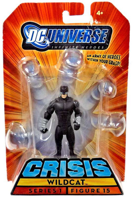 DC Universe Crisis Series 1 Wildcat Action Figure #15 [Black Suit Variant]