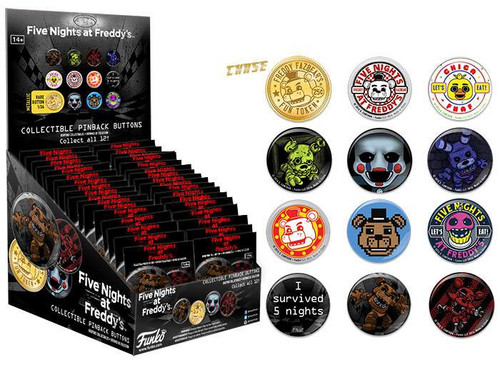 Funko POP! Buttons Five Nights at Freddy's Mystery Box [34 Packs]