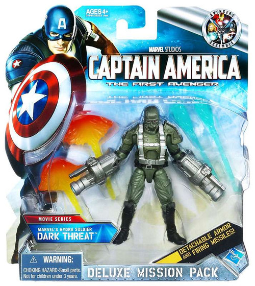 Captain America The First Avenger Deluxe Mission Pack Movie Series Hydra Soldier Dark Threat Action Figure [Damaged Package]