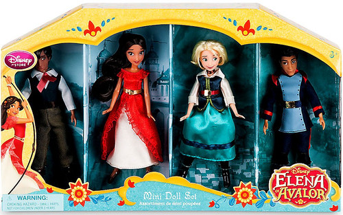Disney Elena of Avalor Elena, Mateo, Naomi & Gabe Exclusive 5-Inch Mini Doll 4-Pack Set