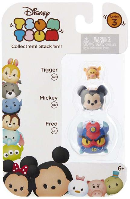 Disney Tsum Tsum Series 3 Tigger, Mickey & Fred Minifigure 3-Pack #149, 102 & 351