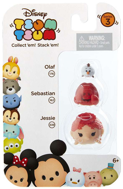 Disney Tsum Tsum Series 3 Olaf, Sebastian & Jessie Minifigure 3-Pack #176, 162 & 339
