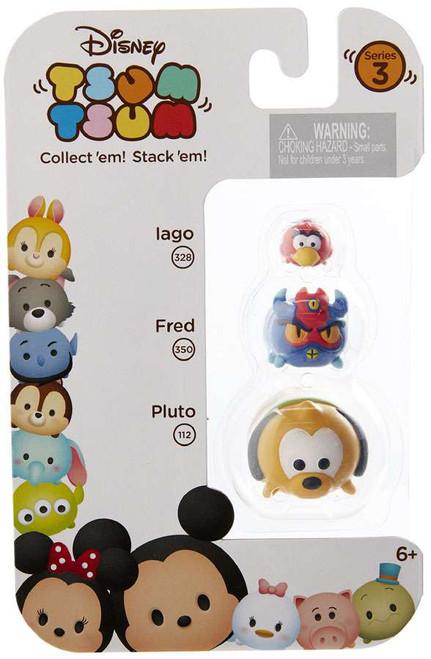 Disney Tsum Tsum Series 3 Iago, Fred & Pluto Minifigure 3-Pack #328, 350 & 112