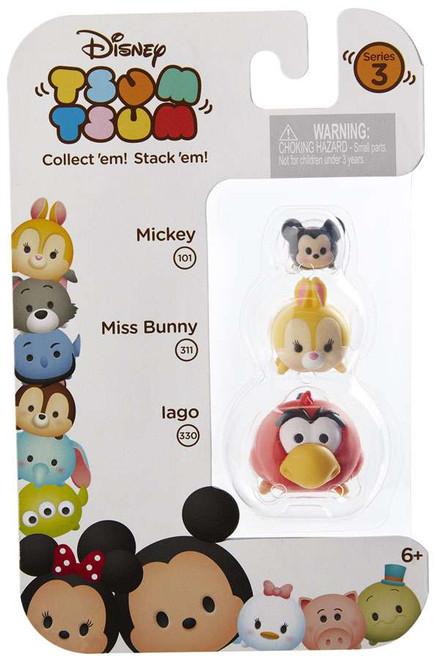 Disney Tsum Tsum Series 3 Mickey, Miss Bunny, & Iago Minifigure 3-Pack #101, 311 & 330