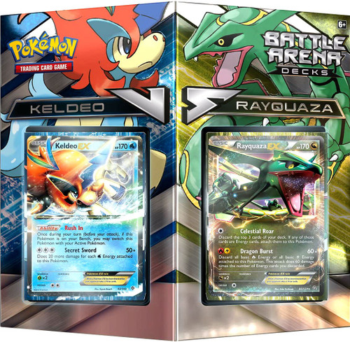 Pokemon Trading Card Game Rayquaza vs Keldeo 2-Player Battle Arena Decks
