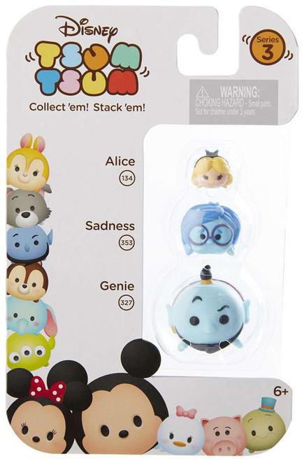 Disney Tsum Tsum Series 3 Alice, Sadness & Genie Minifigure 3-Pack #134, 353 & 327