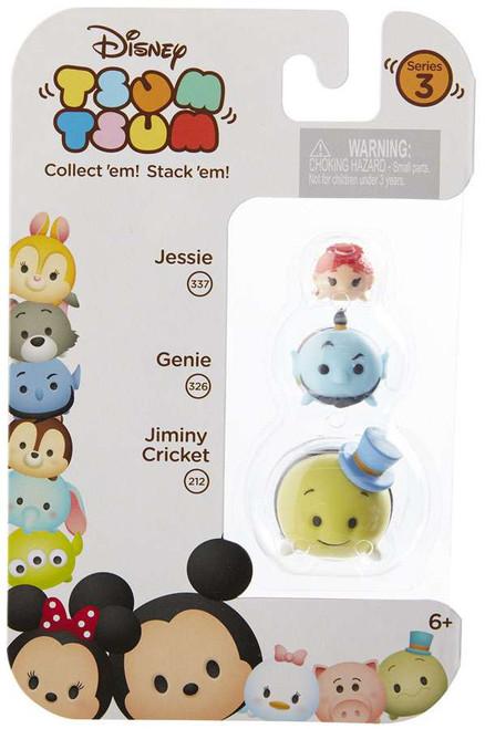Disney Tsum Tsum Series 3 Jessie, Genie & Jiminy Cricket Minifigure 3-Pack #337, 326 & 212