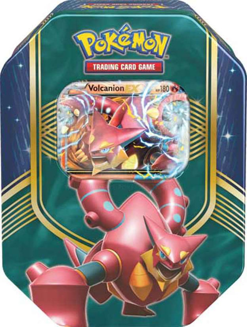 Pokemon Trading Card Game XY Battle Heart Volcanion-EX Tin Set [4 Booster Packs & Promo Card]