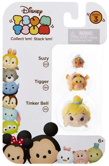 Disney Tsum Tsum Series 3 Suzy, Tigger & Tinker Bell Minifigure 3-Pack #222, 150 & 315