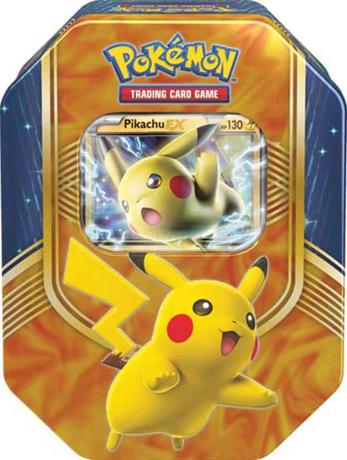Pokemon Trading Card Game 2016 Battle Heart Pikachu-EX Tin Set [4 Booster Packs & Promo Card!]