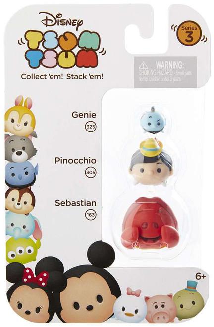 Disney Tsum Tsum Series 3 Genie, Pinocchio & Sebastian Minifigure 3-Pack #325, 305 & 163