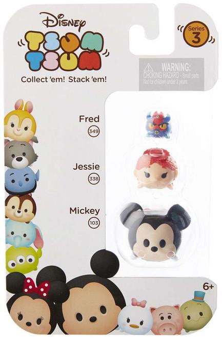 Disney Tsum Tsum Series 3 Fred, Jessie & Mickey Minifigure 3-Pack #349, 338 & 103