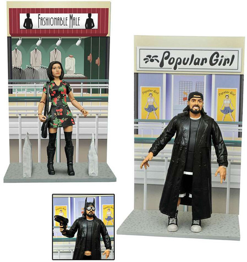 Mallrats Select Series 2 Set of 2 Aciton Figures [Silent Bob & Renee]