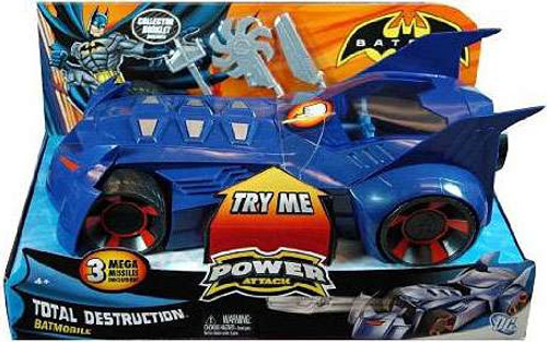 Batman Power Attack Total Destruction Batmobile Vehicle [Damaged Package]