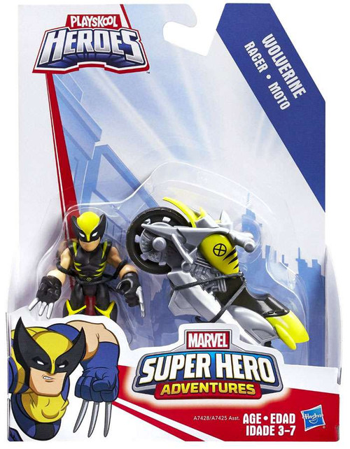 Marvel Playskool Heroes Super Hero Adventures Wolverine with Racer Vehicle & Figure