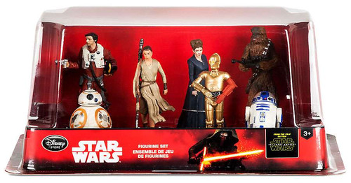 Disney Star Wars The Force Awakens Resistance 7 Piece PVC Figure Set