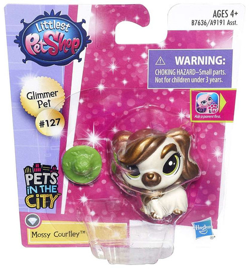 Littlest Pet Shop Pets in the City Mossy Courtley [Glimmer Pet]