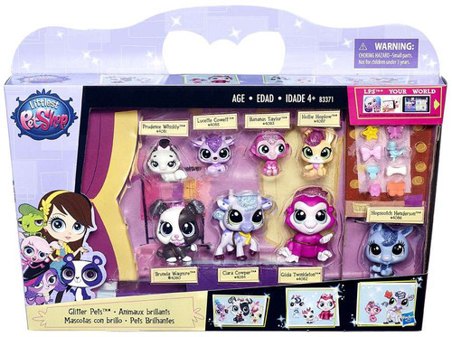 Littlest Pet Shop Glitter Pets Exclusive Figure 8-Pack