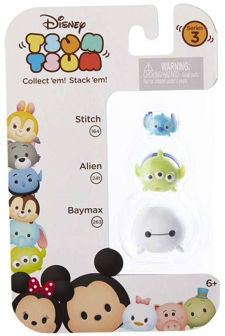 Disney Tsum Tsum Series 3 Stitch, Alien & Baymax Minifigure 3-Pack #164, 241 & 260