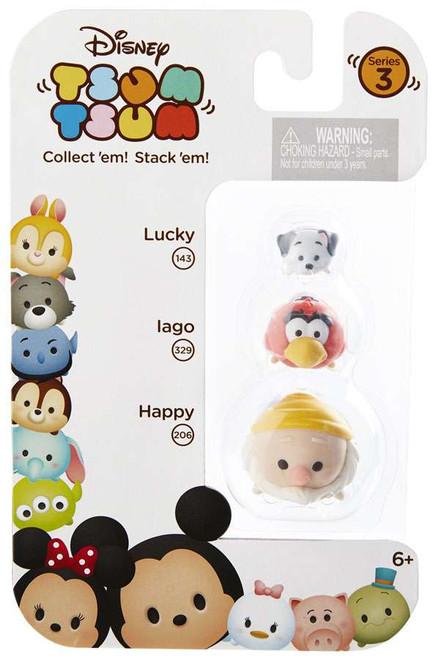 Disney Tsum Tsum Series 3 Lucky, Iago & Happy Minifigure 3-Pack #143, 329 & 206