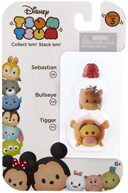 Disney Tsum Tsum Series 3 Sebastian, Bullseye & Tigger Minifigure 3-Pack #161, 341 & 151
