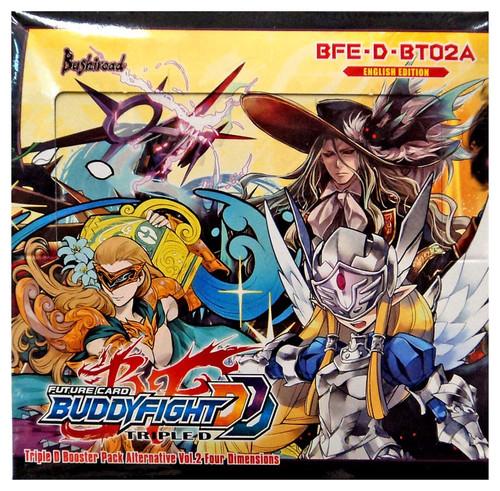 Future Card BuddyFight Triple D Four Dimensions Alternative Vol.2 Booster Box BFE-D-BT02A [30 Packs]