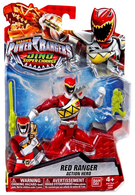 Power Rangers Dino Super Charge Red Ranger Action Hero Action Figure