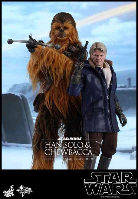 Star Wars The Force Awakens Movie Masterpiece Han Solo & Chewbacca Collectible Figure Set